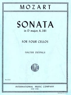 Sonata in D major, KV 381 - 4 Cellos MOZART Partition laflutedepan