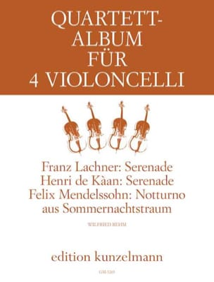 Quartett Album für 4 Violoncelli -Stimmen - laflutedepan.com
