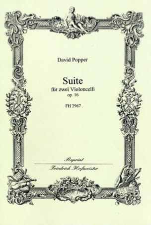 Suite Op. 16 David Popper Partition Violoncelle - laflutedepan