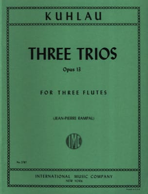 Friedrich Kuhlau - 3 Trios Op. 13 - Partition - di-arezzo.fr