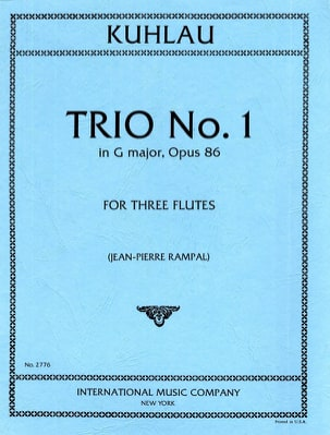 Trio, Opus 86 N° 1 - 3 Flûtes Friedrich Kuhlau Partition laflutedepan