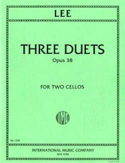 3 Duets op. 38 Sebastian Lee Partition Violoncelle - laflutedepan