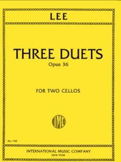 3 Duets op. 36 - Sebastian Lee - Partition - laflutedepan.com
