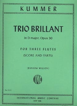 Trio Brillant in D major op. 30 - 3 Flutes Score - parts laflutedepan