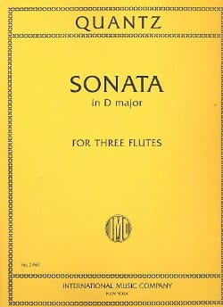 Sonata in D minor - 3 Flutes QUANTZ Partition laflutedepan