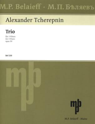 Alexander Tcherepnine - Trio op. 59 – 3 Flöten - Partition - di-arezzo.fr