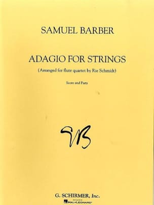 Adagio For Strings - 4 Flûtes BARBER Partition laflutedepan