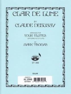 Claude Debussy - Clair de lune – 4 Flûtes - Partition - di-arezzo.fr