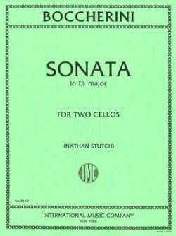 BOCCHERINI - Sonata in E b major - 2 cellos - Sheet Music - di-arezzo.co.uk