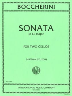 Sonata in E b major - 2 Violoncelles BOCCHERINI Partition laflutedepan