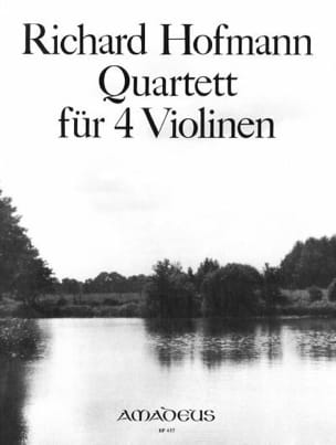 Richard Hofmann - Quartett für 4 Violinen op. 98 - Partition - di-arezzo.fr