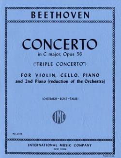 Triple Concerto C major op. 56 - Piano Vln Vc Piano - laflutedepan.com