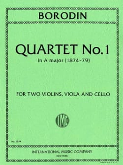 Quartet n° 1 A major - Parts - Alexandre Borodine - laflutedepan.com