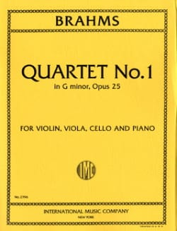 BRAHMS - Quartet n ° 1 G minor op. 25 - Parts - Sheet Music - di-arezzo.com