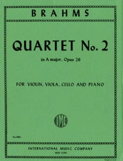 Quartet n° 2 A major op. 26 - Parts - BRAHMS - laflutedepan.com