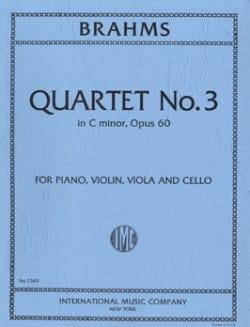 BRAHMS - Quartet n ° 3 C minor op. 60 - Parts - Partition - di-arezzo.com