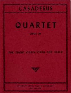 Quartet op. 30 - Robert Casadesus - Partition - laflutedepan.com
