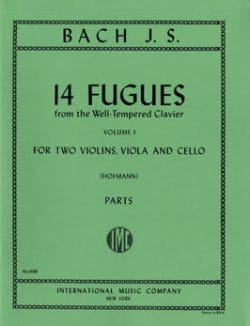 BACH - 14 Fugues - Volume 1 - 2 violins viola cello - Sheet Music - di-arezzo.co.uk