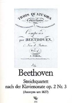 BEETHOVEN - Streichquartett nach Klaviersonate op. 2 Nr. 3 -Stimmen - Partition - di-arezzo.fr
