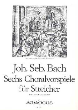 BACH - 6 Choralvorspiele Für Streicher - partitur Stimmen - Sheet Music - di-arezzo.co.uk