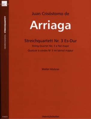 Juan Crisostomo de Arriaga - Quatuor à Cordes N°3 en Mib Maj. - Partition - di-arezzo.fr
