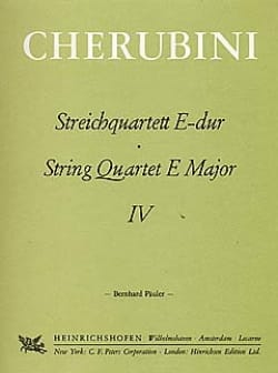 Luigi Cherubini - Streichquartett Nr. 4 E-Dur –Stimmen - Partition - di-arezzo.fr