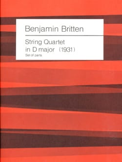 Benjamin Britten - String Quartet in D major 1931) - Parts - Partition - di-arezzo.fr