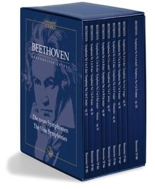 Coffret des 9 Symphonies - Coffret BEETHOVEN Partition laflutedepan