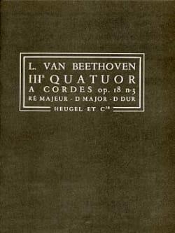 BEETHOVEN - Quatuor à cordes n° 3, op. 18 n° 3 – Conducteur - Partition - di-arezzo.fr