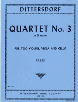 Quartet n° 3 G major -Parts Carl Ditters von Dittersdorf laflutedepan