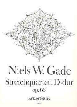 Niels Wilhelm Gade - Streichquartett in D-Dur op. 63 -Stimmen - Partition - di-arezzo.fr