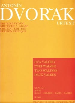 2 Walzer op. 54 Nr. 1 und 4 - Streicher -Stimmen DVORAK laflutedepan
