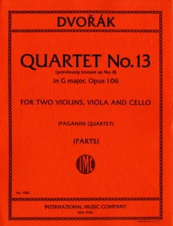 String quartet n° 8 G major op. 106 - Parts - laflutedepan.com