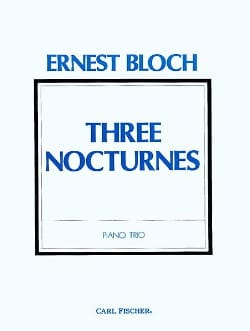 Ernest Bloch - Three Nocturnes - Sheet Music - di-arezzo.co.uk