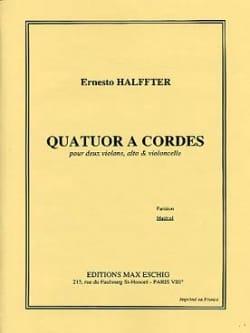 Ernesto Halffter - Quatuor à cordes –Parties - Partition - di-arezzo.fr
