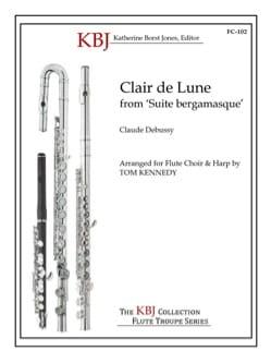 Clair de lune - 2 Antiphonal Flute choir DEBUSSY laflutedepan