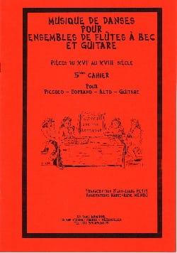- Musique de danses - Volume 5 – ensembles de fl. à bec et guitare - Partition - di-arezzo.fr