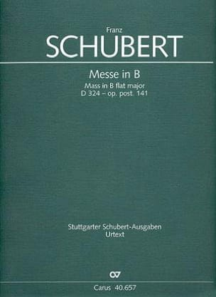 Franz Schubert - Messe in B-Dur D. 324 - op. post. 141 – Partitur - Partition - di-arezzo.fr