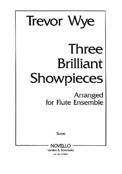 Trevor Wye - 3 Brilliant Showpieces Parts) - Flute ensemble - Partition - di-arezzo.fr