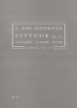 Ludwig van Beethoven - Septuor, Op. 20 Mib Maj. - Conducteur - Partition - di-arezzo.fr