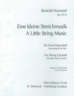 Bertold Hummel - Eine kleine Streichmusik op. 95b -Partitur + Stimmen - Partition - di-arezzo.fr