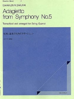 Gustav Mahler - Adagietto from Symphony No. 5 - String Quartet - Score Parts - Sheet Music - di-arezzo.co.uk