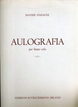Davide Anzaghi - Aulografia - Flauto Solo - Sheet Music - di-arezzo.co.uk