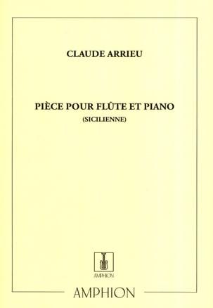 Claude Arrieu - Sicilian Piece - Piano Flute - Partition - di-arezzo.co.uk