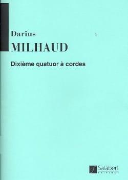 Quatuor à cordes n° 10 – Parties - Darius Milhaud - laflutedepan.com