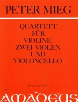 Streichquartett -Partitur + Stimmen - Peter Mieg - laflutedepan.com