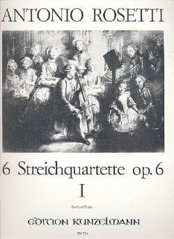 Antonio Rosetti - Streichquartett op. 6, Bd. 1 : Nr. 1-3 –Stimmen - Partition - di-arezzo.fr