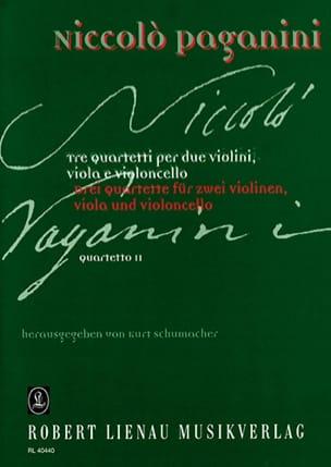 Niccolò Paganini - Quartetto n° 2 –Partitur + Stimmen - Partition - di-arezzo.fr