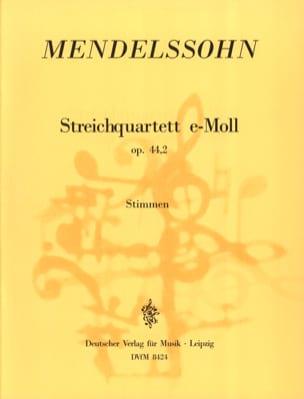 MENDELSSOHN - Streichquartett e-moll op. 44 n ° 2 - Stimmen - Sheet Music - di-arezzo.co.uk