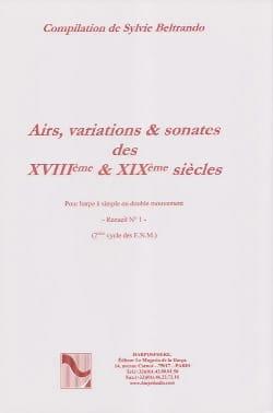 - Airs, Variations et Sonates des 18° et 19° Siecles Volume 1 - Partition - di-arezzo.fr